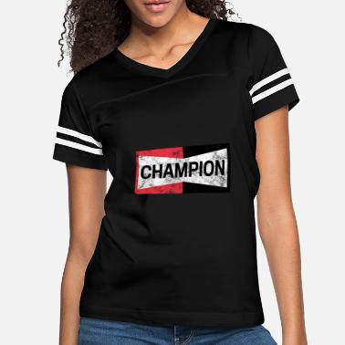 Distressed Champion Motor Sports Retro Spark Plug - Women's Vintage Sport T-Shirt
