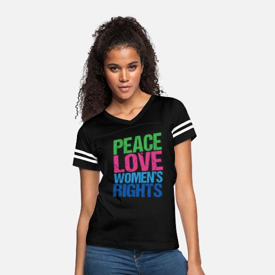 Choice T-Shirts - Peace Love Women's Rights - Women's Vintage Sport T-Shirt black/white