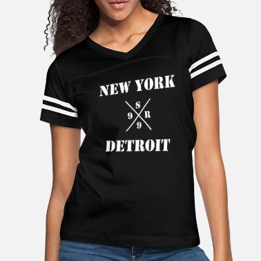 Detroit Vs Everybody shady new york vs detroit - xsr99 - Women's Vintage Sport T-Shirt