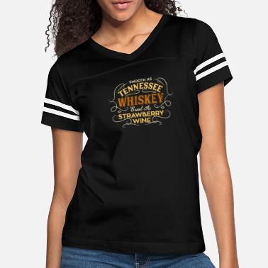 Whiskey Smooth Tennessee Whiskey Strawberry Wine Song Gift - Women's Vintage Sport T-Shirt