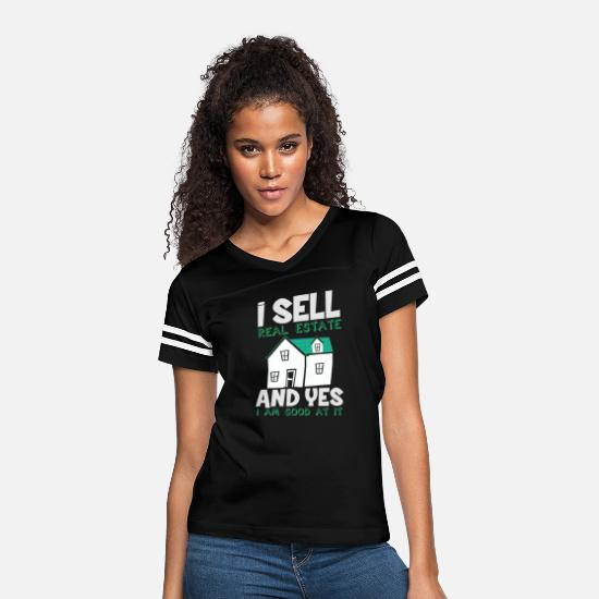 Sale T-Shirts - real estate agent estate agent real estate trading - Women's Vintage Sport T-Shirt black/white