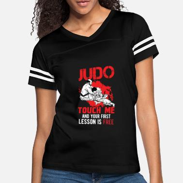 Lesson Judo - Touch me and your first lesson is free - Women's Vintage Sport T-Shirt