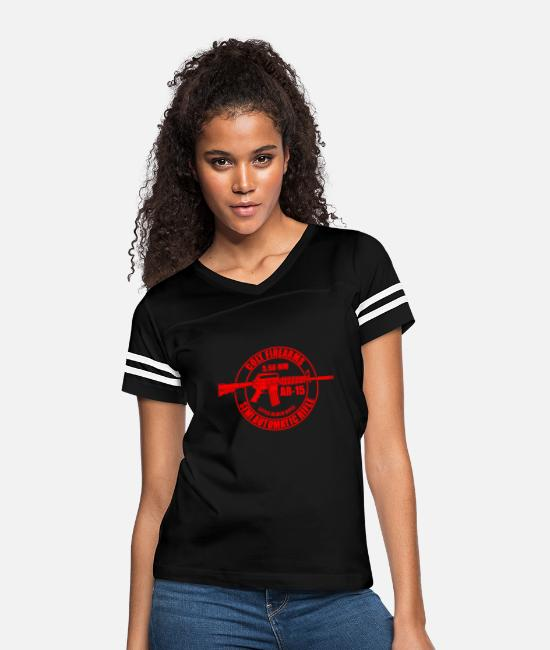 Gun T-Shirts - RIFLE - Women's Vintage Sport T-Shirt black/white