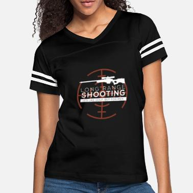 Long Long Range Shooting - Women's Vintage Sport T-Shirt