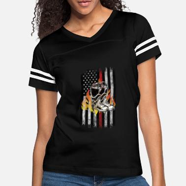 Fire Fire fighter boots Flames American Flag Thin Red - Women's Vintage Sport T-Shirt
