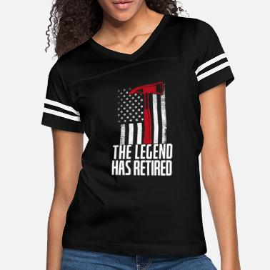 Save Legend Has Retired Thin Red Line Firefighter Axe - Women's Vintage Sport T-Shirt