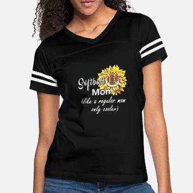 Softball Mom Like A Regular Mom Only Cooler - Women's Vintage Sport T-Shirt