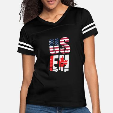 Funny Canada USEH America Canada Flag Funny American Canadian - Women's Vintage Sport T-Shirt