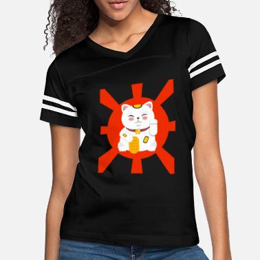 Kawaii Lucky Cat T-Shirt MANEKI-NEKO Kawaii Shirt - Women's Vintage Sport T-Shirt