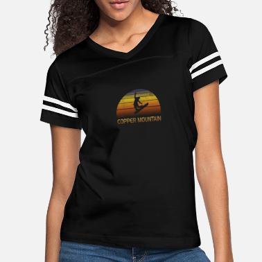 Copper Vintage Retro Copper Mountain Colorado Snowboard - Women's Vintage Sport T-Shirt
