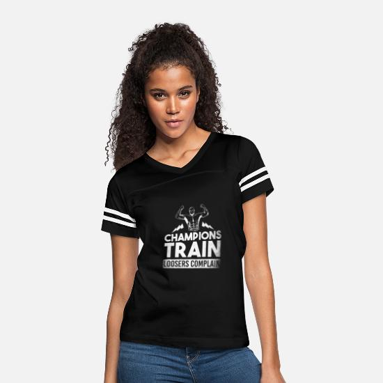 Bodybuilding T-Shirts - Training Muscles Bodybuilding Gym Dumbbell - Women's Vintage Sport T-Shirt black/white