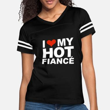 Partner I Love my hot Fiance Engaged Engagement - Women's Vintage Sport T-Shirt