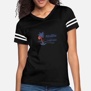 Malibu California Shirt Beach Tourist Souvenir - Women's Vintage Sport T-Shirt