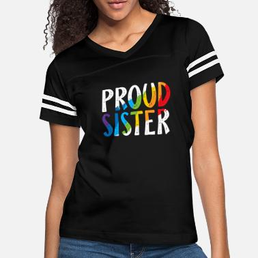 Proud Proud Sister Pride Shirt Gay LGBT Day Month Parade - Women's Vintage Sport T-Shirt