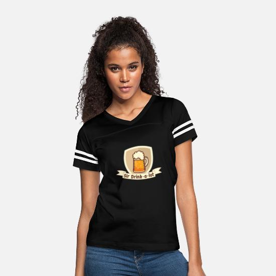 Siri T-Shirts - Sir Drinks a lot - Women's Vintage Sport T-Shirt black/white