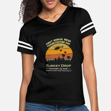Funny Turkey Thanksgiving Day Wkrp-Turkey-Drop - Women's Vintage Sport T-Shirt