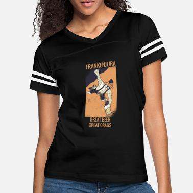 Bavarian Bouldering Shirt | Free Solo Funny Bavarian Climbe - Women's Vintage Sport T-Shirt