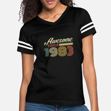 Legend 1983 Vintage born in Retro age Birthday gift idea - Women's Vintage Sport T-Shirt