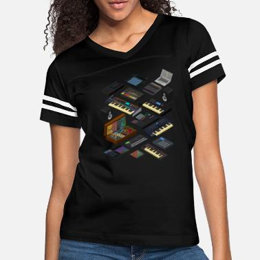 Electronic Musician Electronic Musician and Music Producer - Women's Vintage Sport T-Shirt