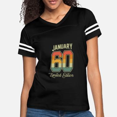 Birth Vintage 60th Birthday January 1960 Sports Gift - Women's Vintage Sport T-Shirt