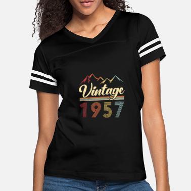 64th Birthday T-Shirt 1957 Mens 64 Vintage Year Premium Quality Distressed