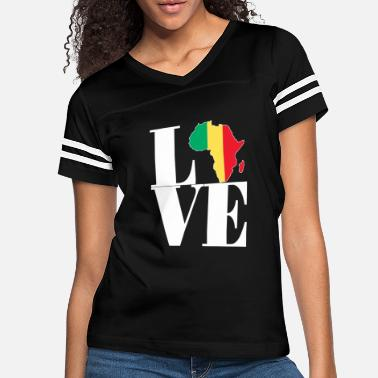Africa I LOVE MALI AFRICA MAP - Women's Vintage Sport T-Shirt