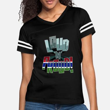 Patriot Gambia Pride Loud N Proud - Women's Vintage Sport T-Shirt