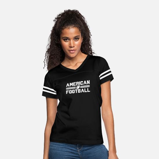 Training T-Shirts - American football American Football - Women's Vintage Sport T-Shirt black/white