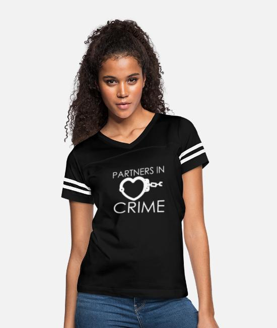 Partner T-Shirts - Partner In Crime - Women's Vintage Sport T-Shirt black/white