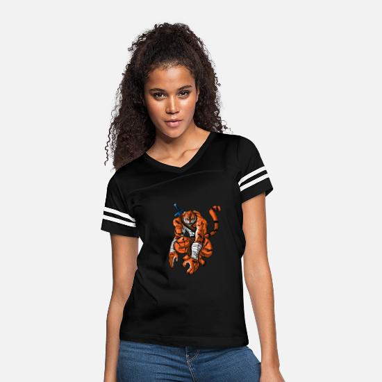 Dominant T-Shirts - Tiger Sword Dominant Hunter Species Animal Gift - Women's Vintage Sport T-Shirt black/white
