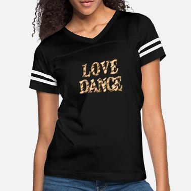 Love Dance Silver Mixed Media - Women's Vintage Sport T-Shirt