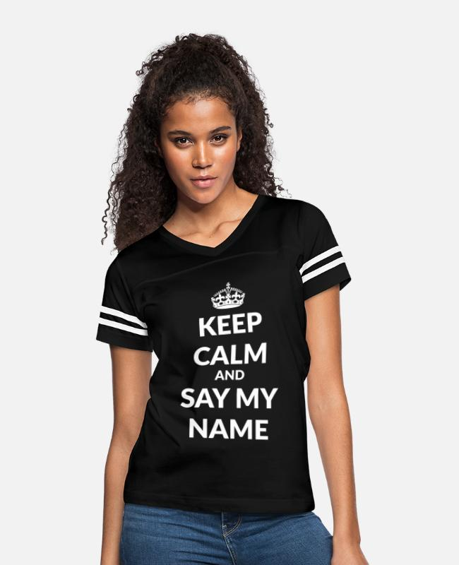 Walter T-Shirts - keep calm and say my name - Women's Vintage Sport T-Shirt black/white