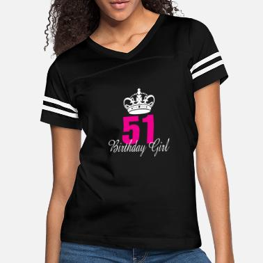 August Birthday Girl 51 Years Old - Women's Vintage Sport T-Shirt