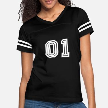 Jersey Number 01 number jersey - Women's Vintage Sport T-Shirt