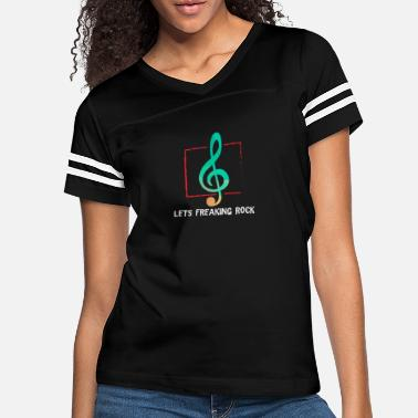 Metal Music Freaking Rock - Guitar, Rock n Roll - Women's Vintage Sport T-Shirt
