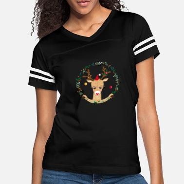 Reindeer A reindeer in the Christmas time - Women's Vintage Sport T-Shirt