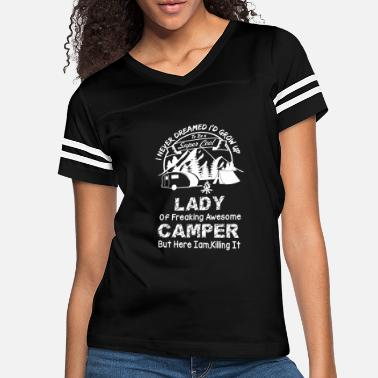 Camping - I never dreamed I'd grow up a camper - Women's Vintage Sport T-Shirt