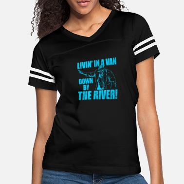 New River New Design LIVIN IN A VAN Down By The River - Women's Vintage Sport T-Shirt