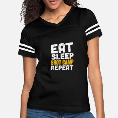 Boot Eat Sleep Boot Camp Repeat - Women's Vintage Sport T-Shirt