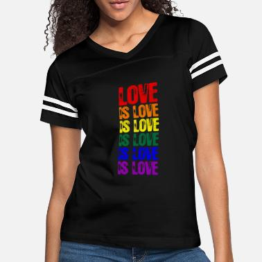 Love is Love LGBT Gay Lesbian Pride Long Sleeve T-Shirt Patchwork Crew Neck Casual Raglan Sleeve Tunic Pullover Blouse Tee Tops for Women Men Teens