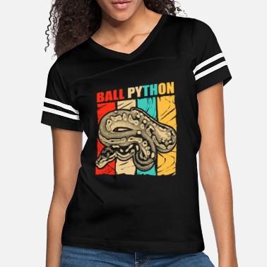 South America Ball Python Snake Reptile Boa Constrictor Venom - Women's Vintage Sport T-Shirt