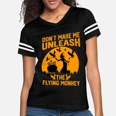 Monkeys Funny Halloween Witches Flying Monkey T-Shirt Tee - Women's Vintage Sport T-Shirt
