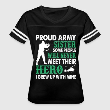 Proud Army Sister T Shirt - Women's Vintage Sport T-Shirt