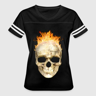 flaming skull 200 4kh - Women's Vintage Sport T-Shirt