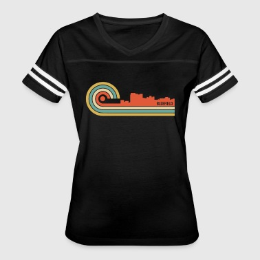 Retro Style Bluefield West Virginia Skyline - Women's Vintage Sport T-Shirt