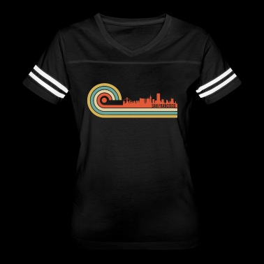 Retro Style San Francisco California Skyline - Women's Vintage Sport T-Shirt