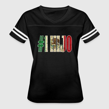 Cool Hijo Gift Mexican Shirt For Mexican Flag Shirt for Mexican Pride Vintage Outline - Women's Vintage Sport T-Shirt