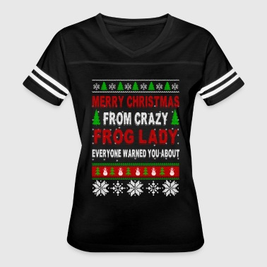 Merry Christmas From Crazy Frog Lady - Women's Vintage Sport T-Shirt