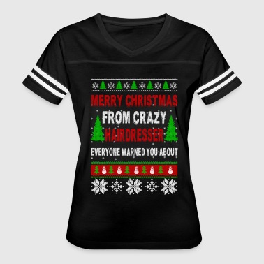 Merry Christmas From Crazy Hairdresser - Women's Vintage Sport T-Shirt
