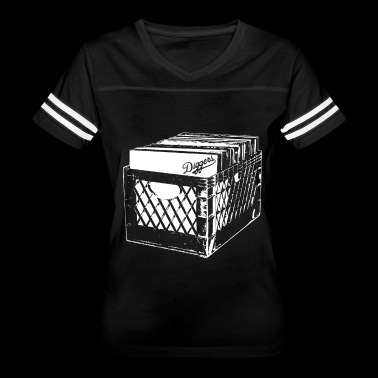 CRATE DIGGERS RECORD COLLECTOR DJ CLASSIC - Women's Vintage Sport T-Shirt
